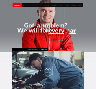 car repairs web design and development