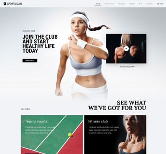 sports club web development project